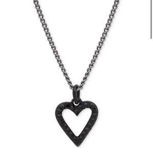 DKNY black heart necklace